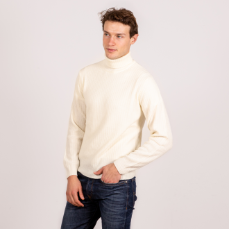 White Roll Neck